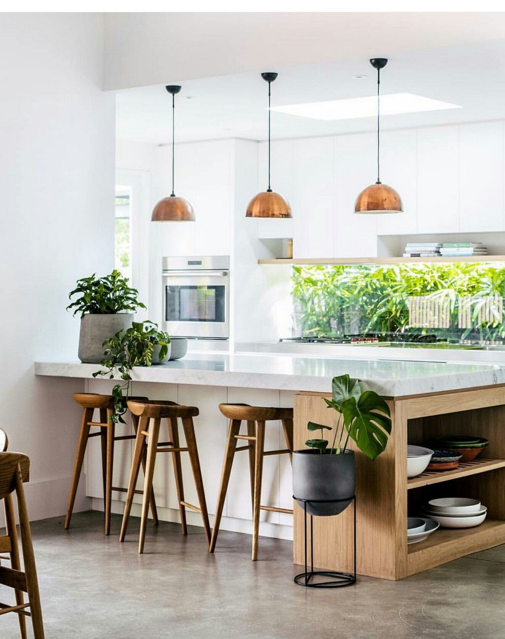 If Your Kitchen Remodel Plan Includes Using Lots Of Plants And Wooden Elements Make Sure To Get A Few Counter Stools That Go With Style