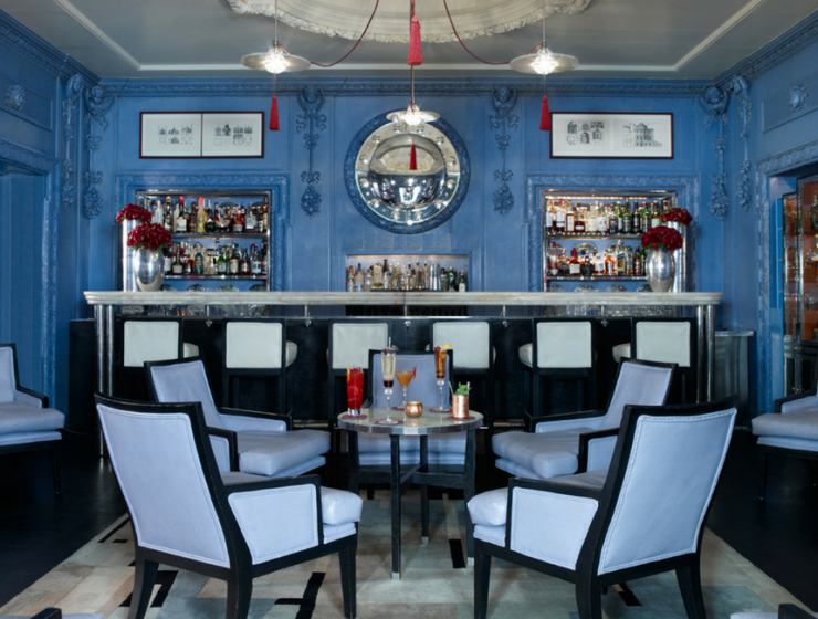 Fall in Love with The Berkeley Hotel Blue Bar by David Collins