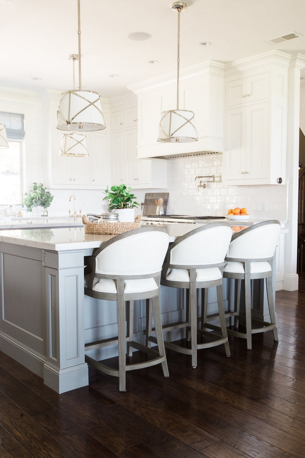 Get Your Kitchen Decor Ready for Winter W/ These White Bar Stools ...