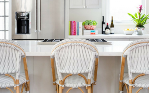 Get Your Kitchen Decor Ready for Winter W: These White Bar Stools
