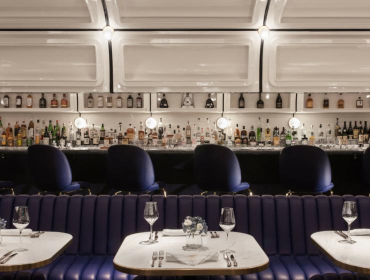 How Purple Modern Bar Stools Rock a Hong Kong Lounge Bar