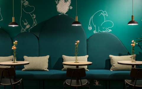 Mumin Kaffe- A Cheery Coffee Shop Design that Your Inner Kid Will Love