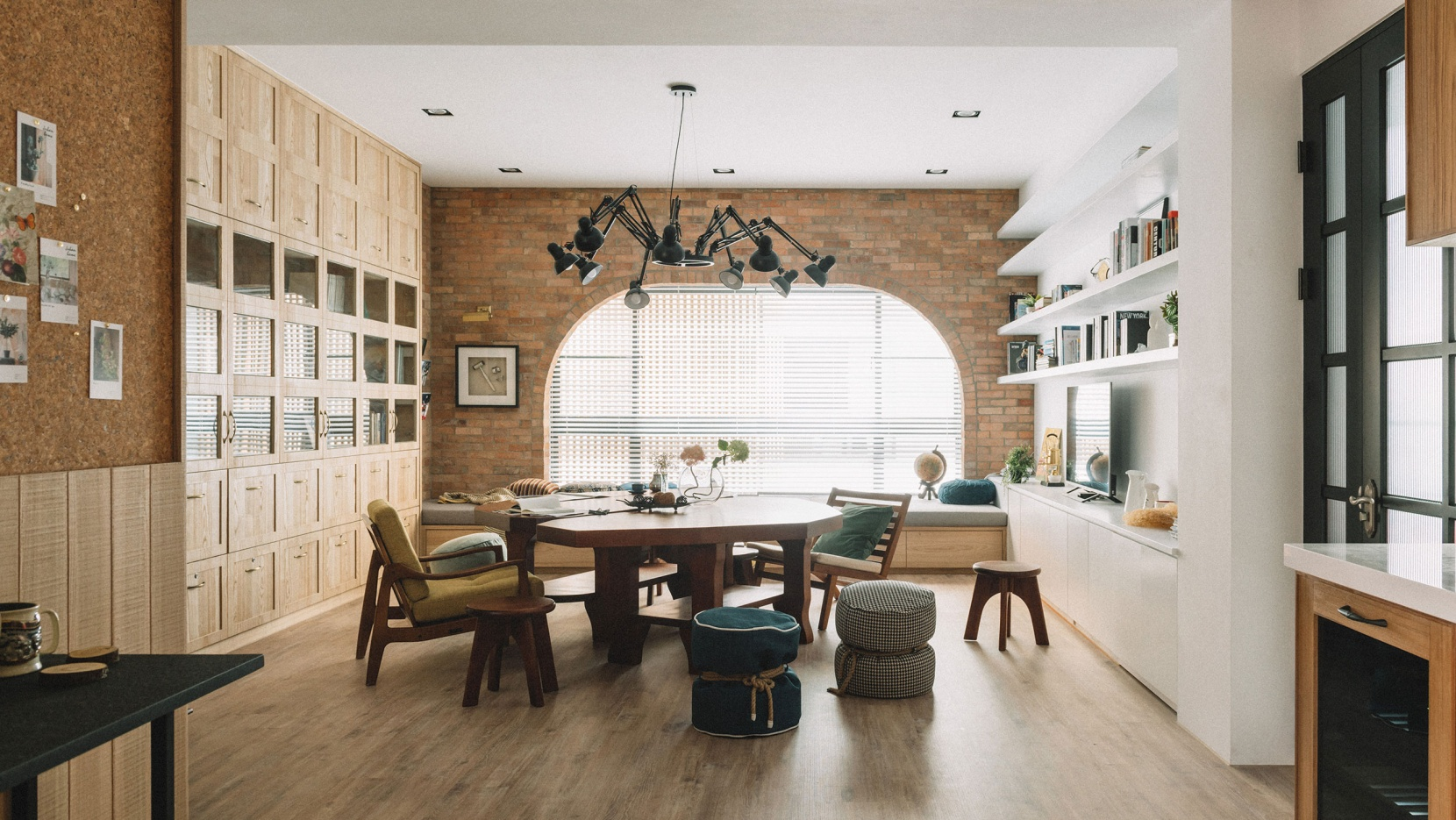 You Will Love the Vintage Industrial Stools in this This Taiwan Flat!