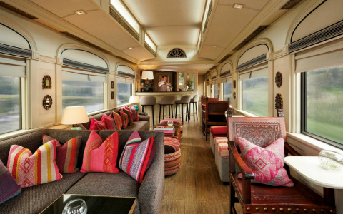 A Luxurious Train & Four Modern Bar Stools W- a Story to Tell_feat