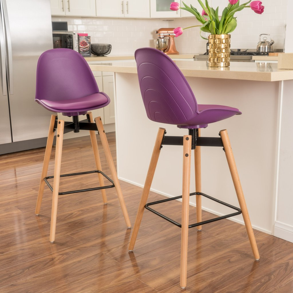 Stay Trendy in 2018 with These Ultra Violet Bar Chairs _1
