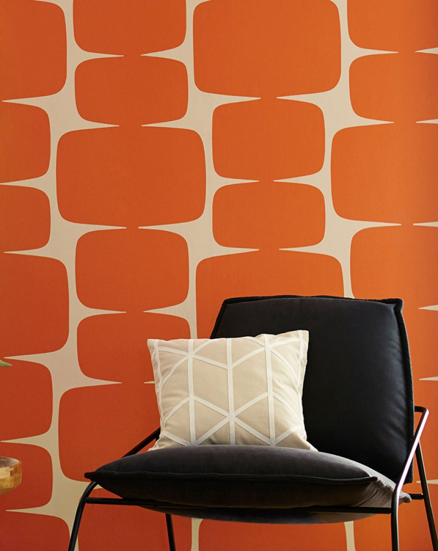 Keep All Your Mid Century Furniture And Make It Pop With A Vintage Wallpaper
