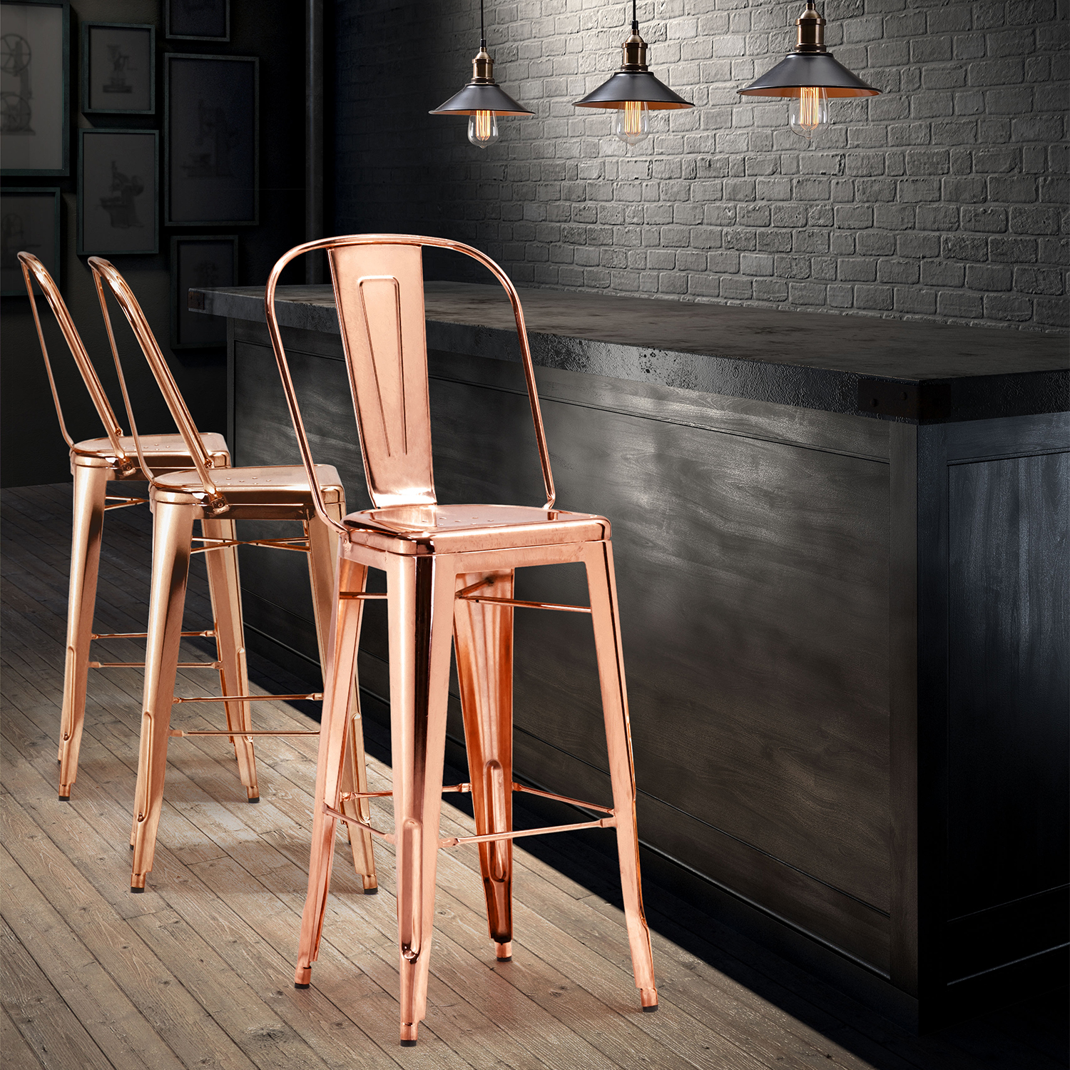 Here's Proof Why Copper Bar Stools Might Be the Next Big Thing!_