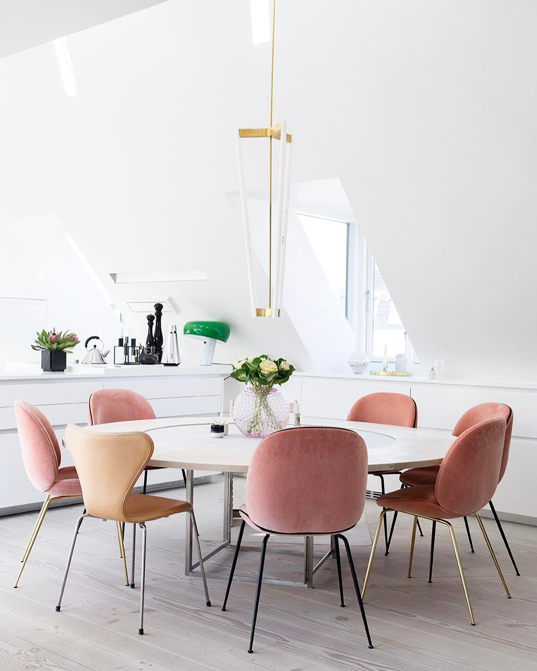 And These Pastel Pink Dining Room Chairs Are More Than Ready To Be Packed Live In Your For Years Come