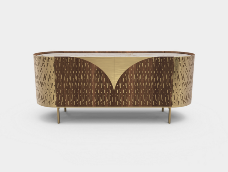 Man Cave Ideas- A Mid-Century Sideboard With an Art Deco Twist_1