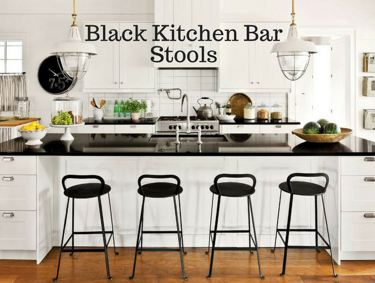5 Black Kitchen Bar Stools for a Warm Monochromatic Decor