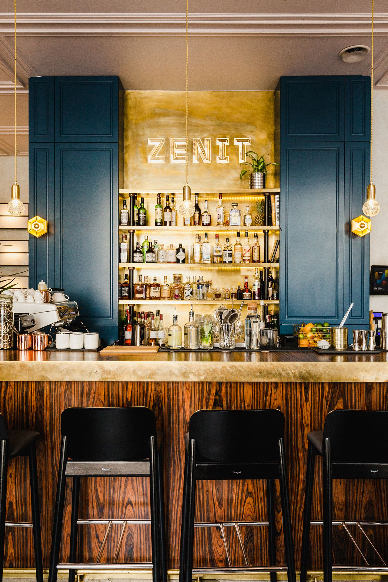 A Kraków Restaurant Decor with Lush Velvet Accents – Bar Stools ...