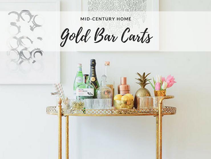 Gold Bar Cart The Secret for a Mid-Century Home Bar Decor_feat