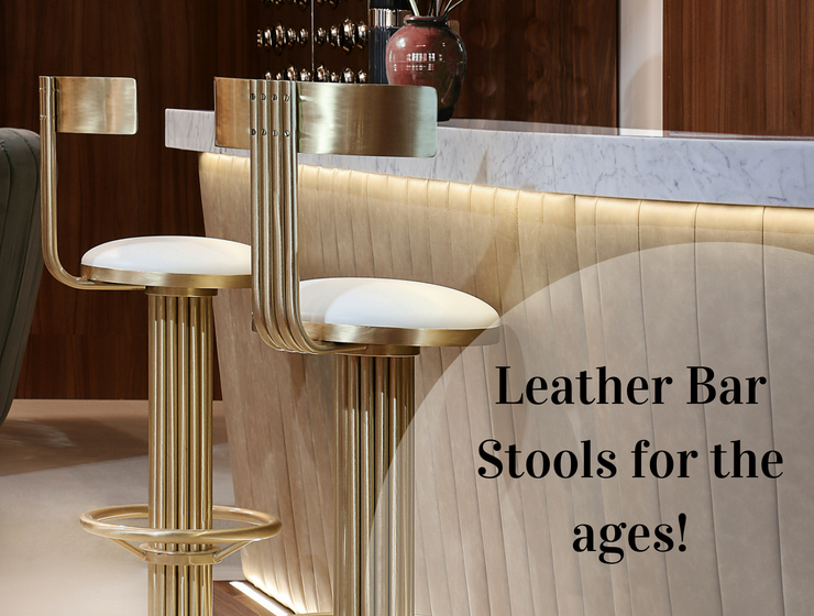 Leather Bar Stools for the ages! (1)