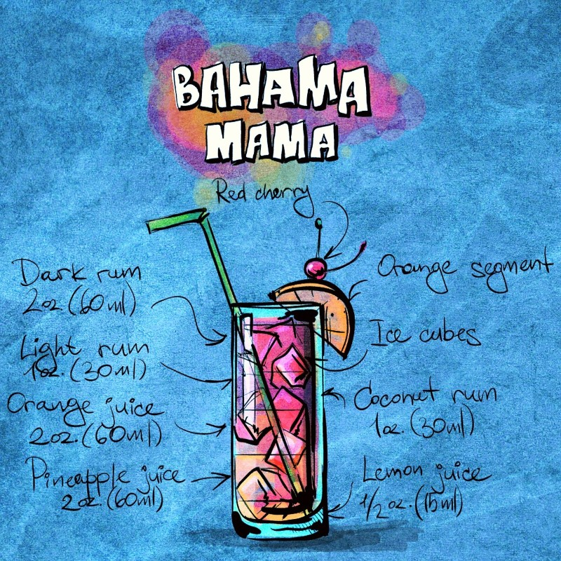 7 Classic Cocktail Recipes that'll Glam Up Your Summer bahama mama