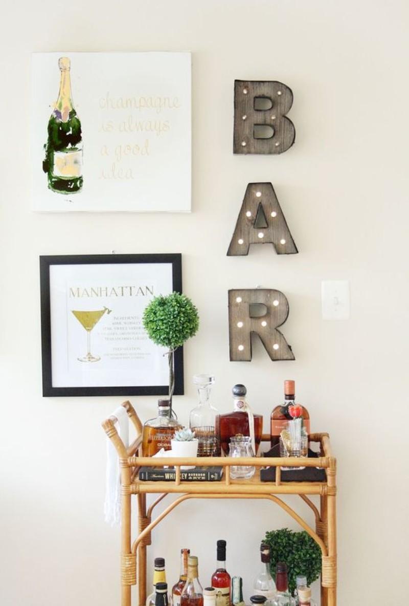 home bar accessories, bar wall decor, home bar, home bar decor, home bar decor ideas, vintage bar