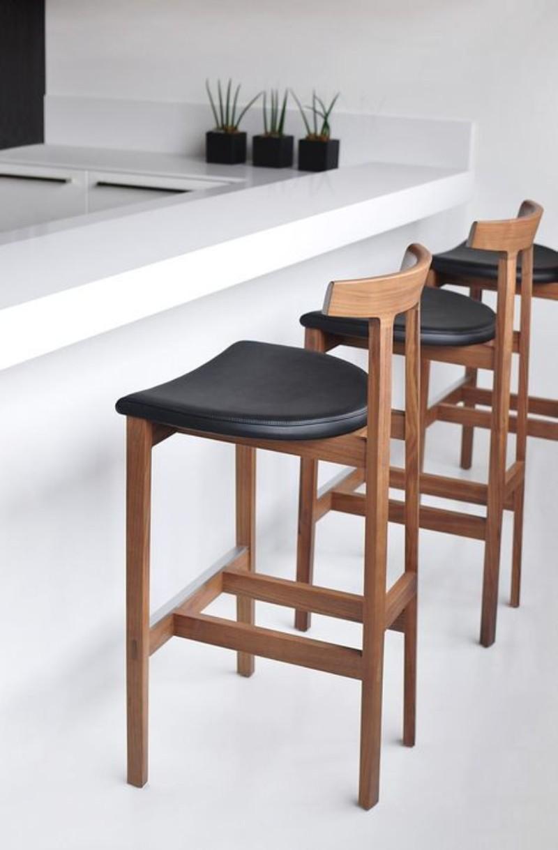 mid century stools, modern counter, mid century modern interiors, mid century modern design, mid century modern homes