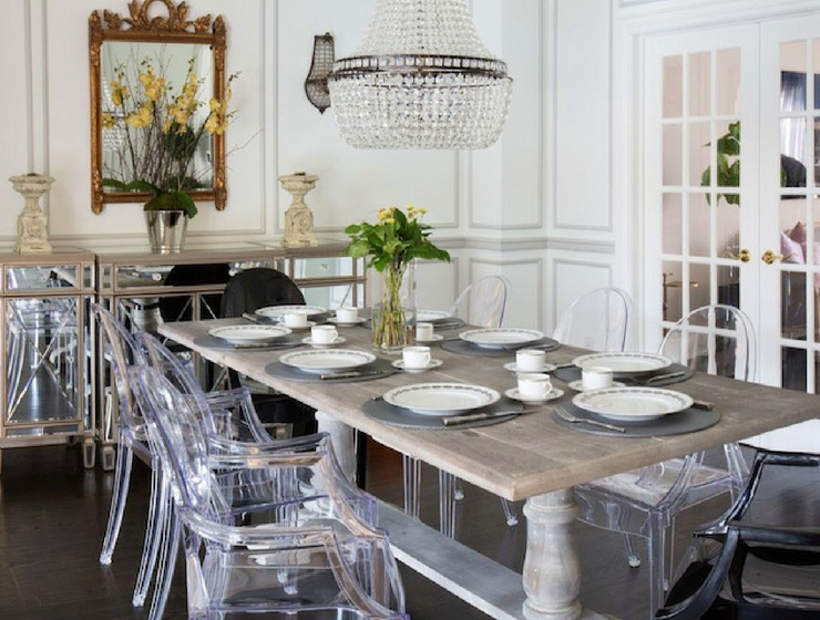 Here's Why Clear Dining Chairs Are A Trend For Small Spaces