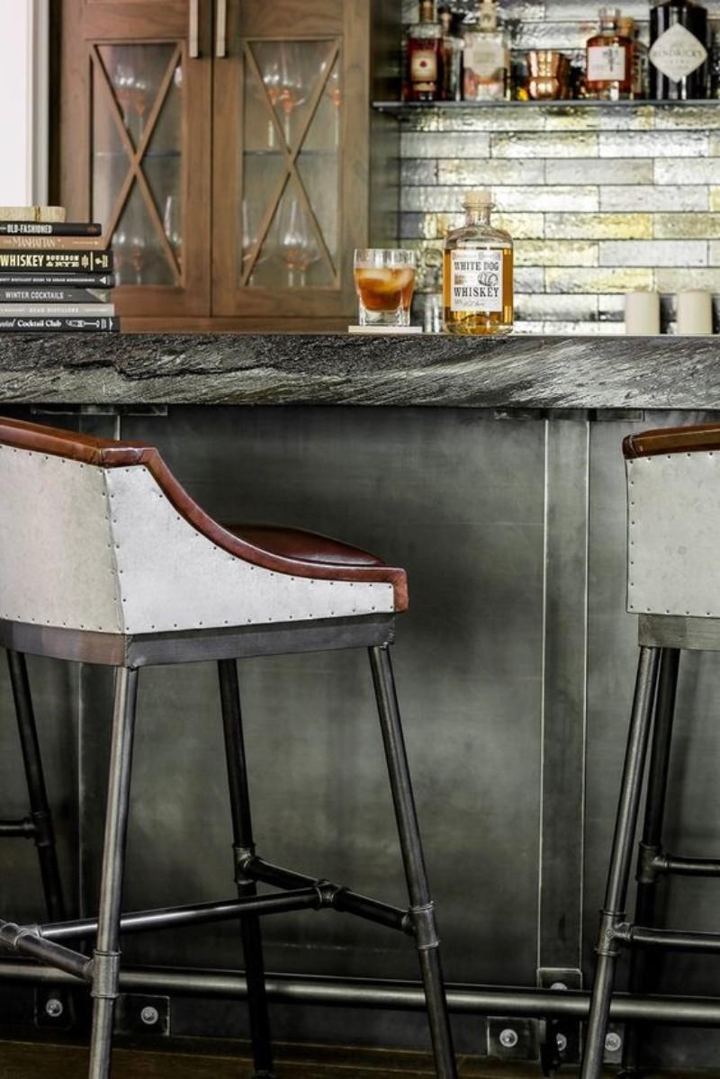 trendy modern bar chairs, modern bar chairs, home bar trends 2019, trends 2019, modern home bar inspiration