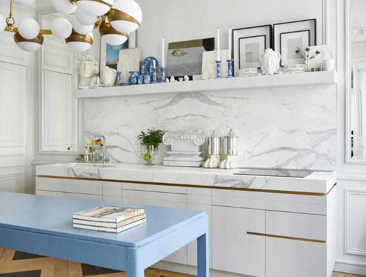 A Glamorous Parisian Kitchen To Inspire A Makeover