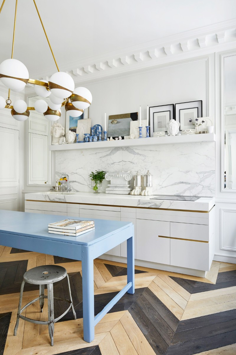 A Glamorous Parisian Kitchen To Inspire A Makeover